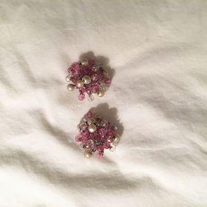 Vintage Vogue crystal earrings